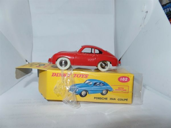Atlas French Dinky 356 A PORSCHE 356 A COUPE RED CAR MODEL 182